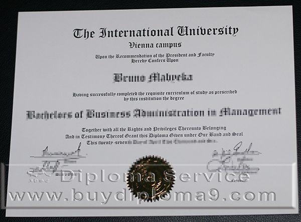 international university vienna campus degree, Buy diploma, buy