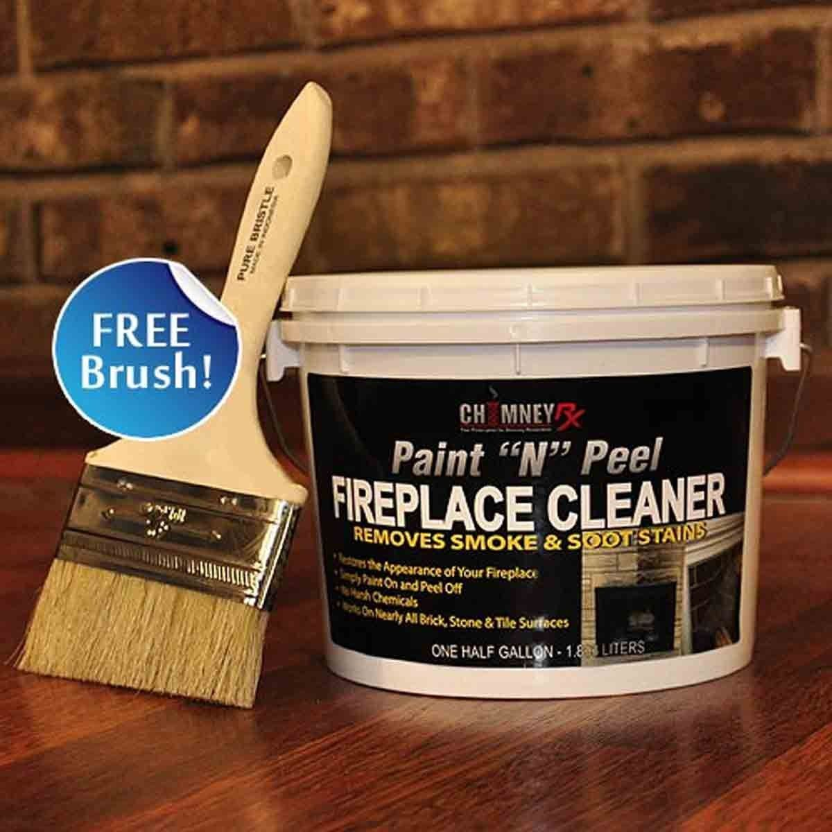 Paint N Peel Fireplace Cleaner Wood Burning Fireplace Inserts