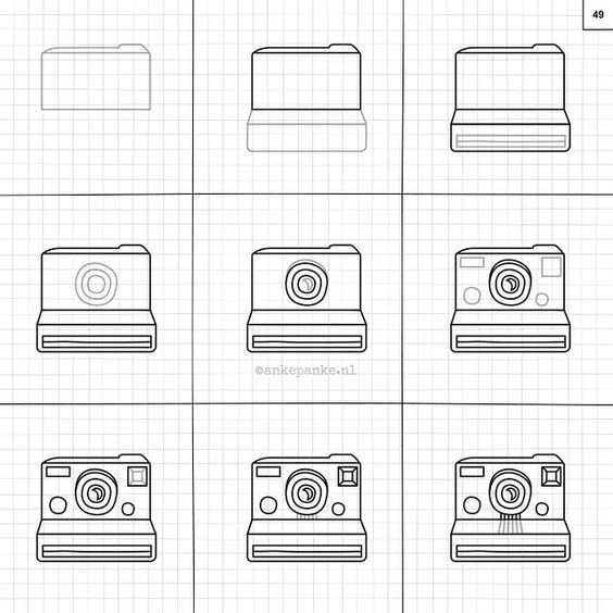 how to draw a realistic camera