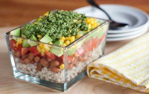 Barley and Bean Salad with Herb Pesto