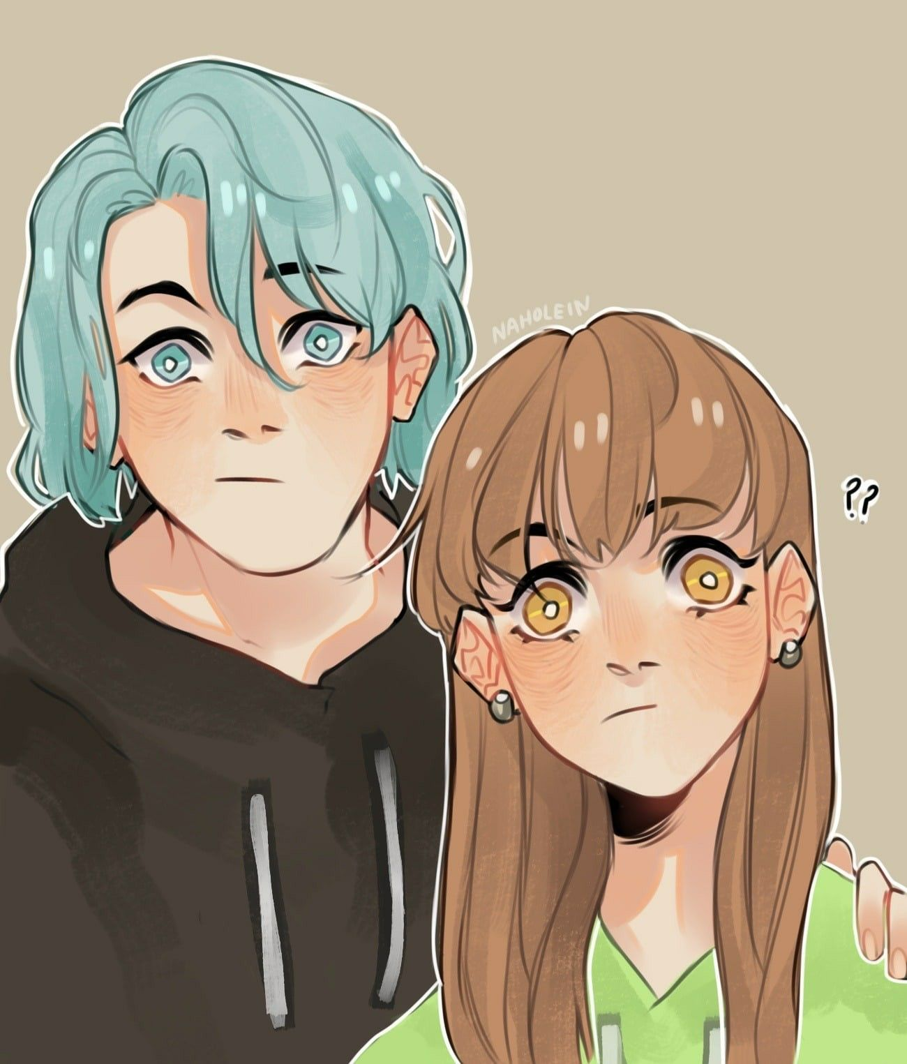 11+ Couple Sketch Cute Anime Characters in 2020 (With