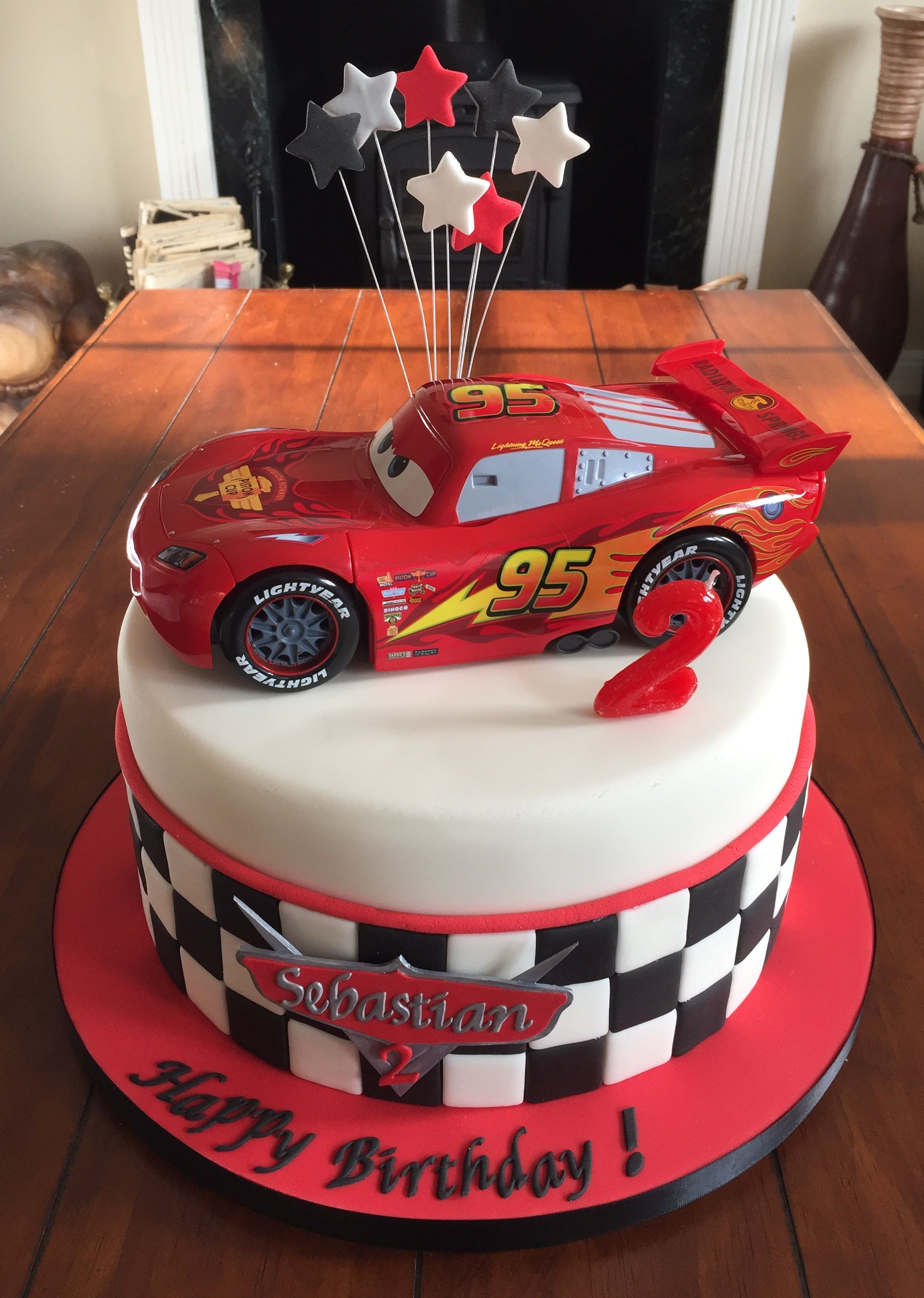 2nd Birthday Car Theme Cake