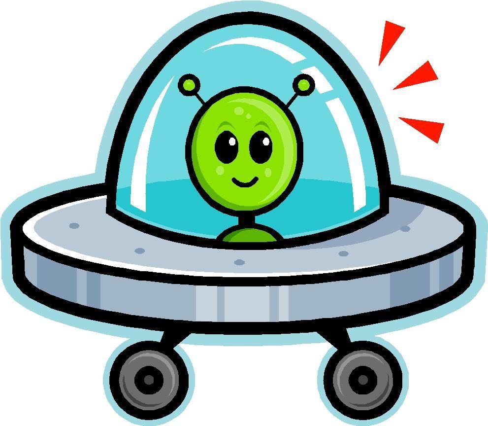 Cartoon Spaceship Cartoon Image Of A Green Martian In A