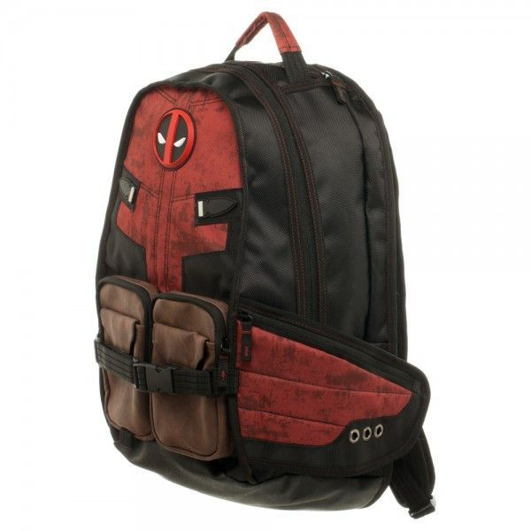 "Marvel Deadpool Laptop Backpack - Officially Licensed Marvel Comics Product - Deadpool Suit Up Themed Design - Fleece Lined - 75% Polyester 25% PU - Approximately 19"" x 17"" x 7"""