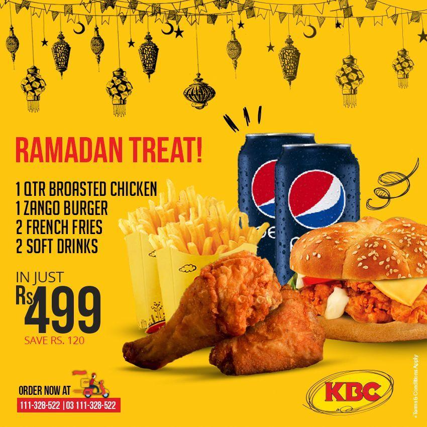 Kbc Ramadan Deal 2018 Buy 2 Get 1 Free Kbc Ramadan Deal 2018 Kbc Bring You The Perfect Fast Food Deal For You To Fast Food Deals Broasted Chicken Ramadan