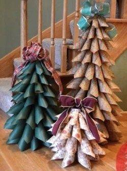 Faire un sapin de Noël en papier, idées décos Noël ! | Noel
