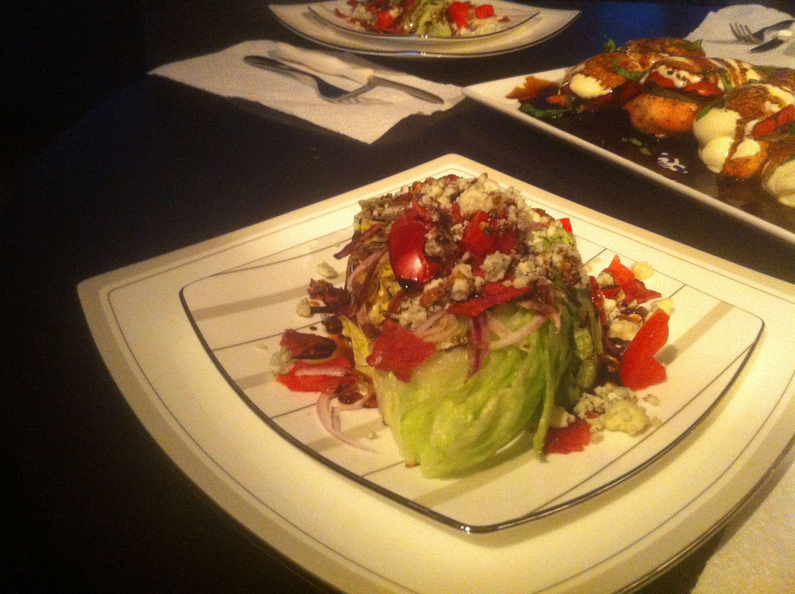 Blue cheese wedge salad. Yum!!