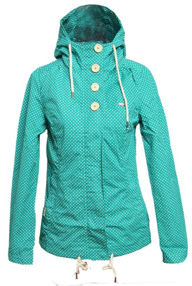 Ragwear Lynx Dots Jacket Deep Green Mint Womens Jacke Winterjacke girls  Damen | eBay
