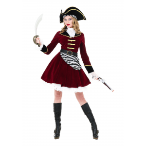 Women S Captain Hook Costume With Hat Fantasias Carnaval