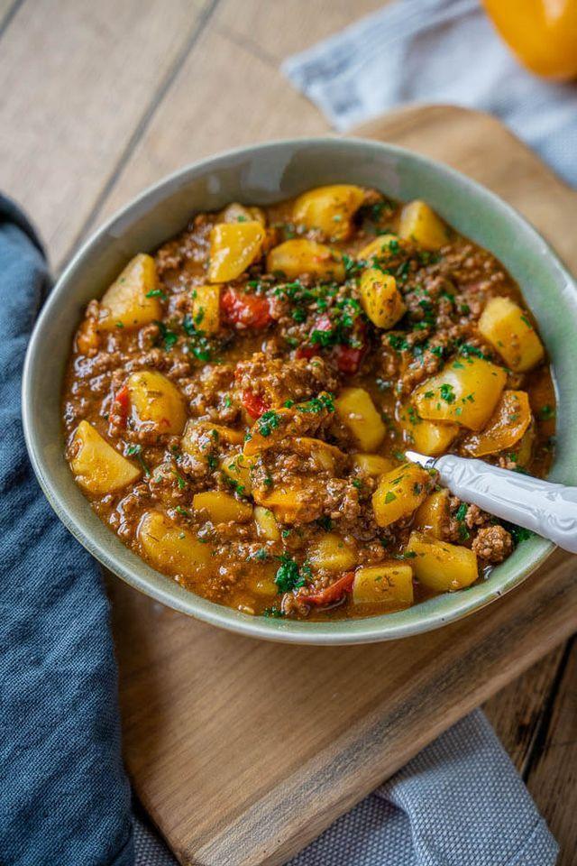 Delicioso guiso de granjero con carne picada, patatas y pimientos | Simplemente Malene (t …  – Boda fotos
