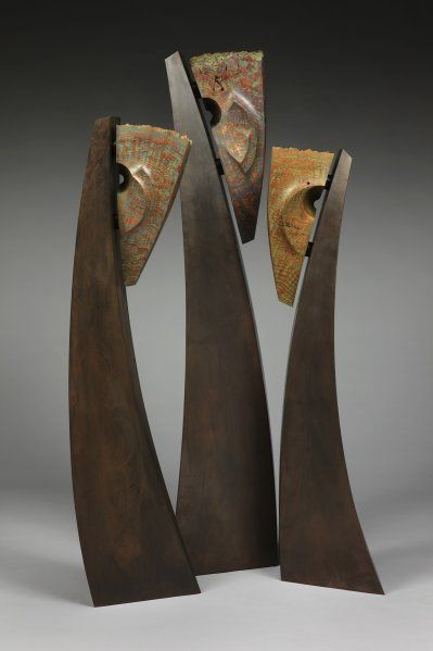Stoney Lamar - wood, steel, pigment Haches version viking 2015 ...