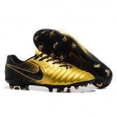 d3d14e6954b Botas De Futbol Nike Tiempo Legend VII FG Dorado Negro Madrid ...