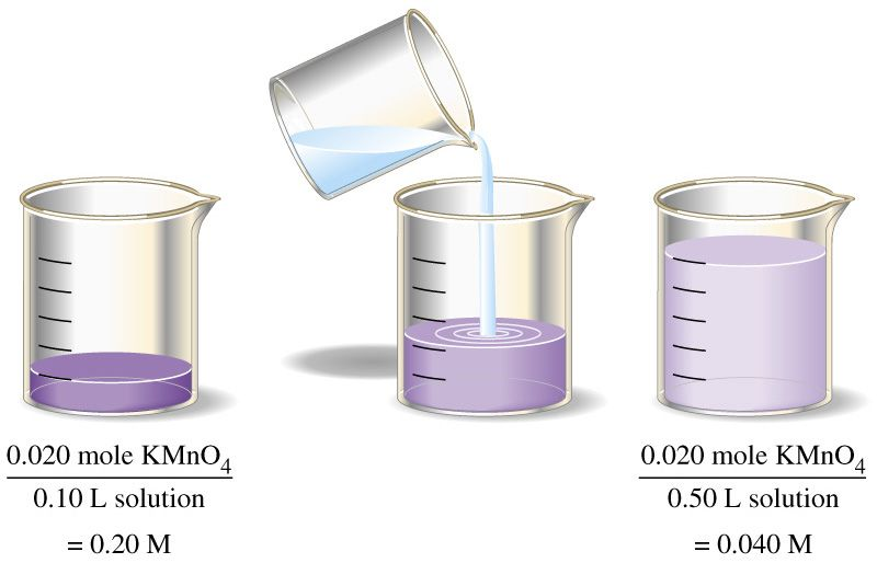 how to change a dilute solution to a concentrated solution