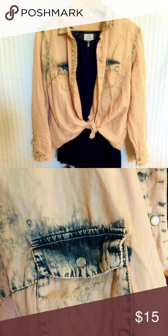 628366bcc03e7f 3 for 30 🌈 Vintage style acid wash shirt Vintage 🍑 button down shirt.  Size says xl but it will def fit med to large .