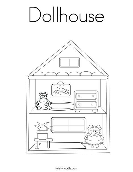 Dollhouse Coloring Page Family Coloring Pages Coloring Pages Drawing For Kids