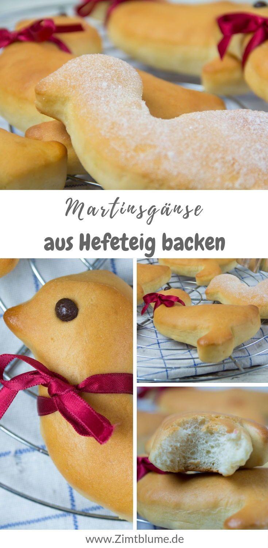 Gebäck zum Martinstag: Martinsgänse aus Hefeteig backen | #martinsgansbacken