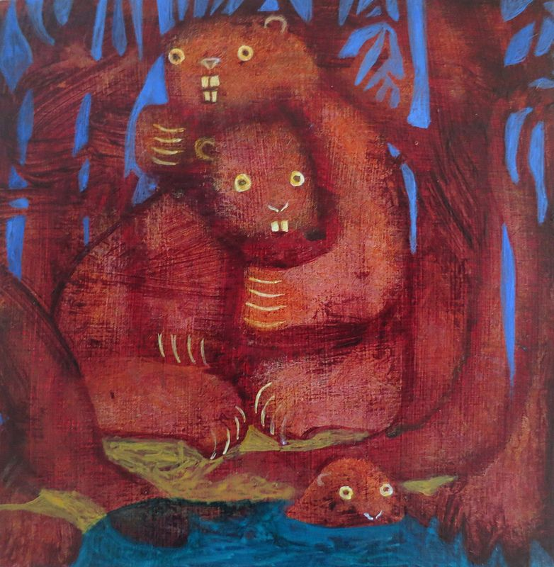 Beaver Family by Cathie Joy Young