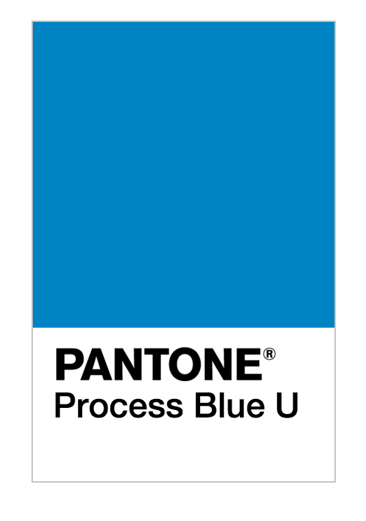Bright Blue Color Blocking On One Wall And Ceiling: Pantone Process Blue U