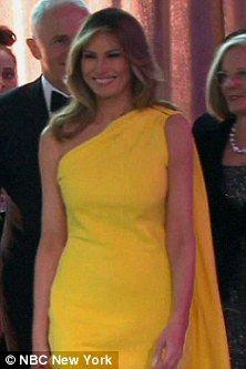 Imagini pentru melania yellow dress