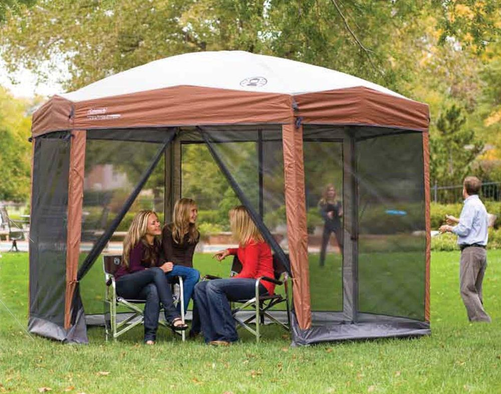 Camping Canopy Tent Screened Gazebo Picnic Outdoor Backyard