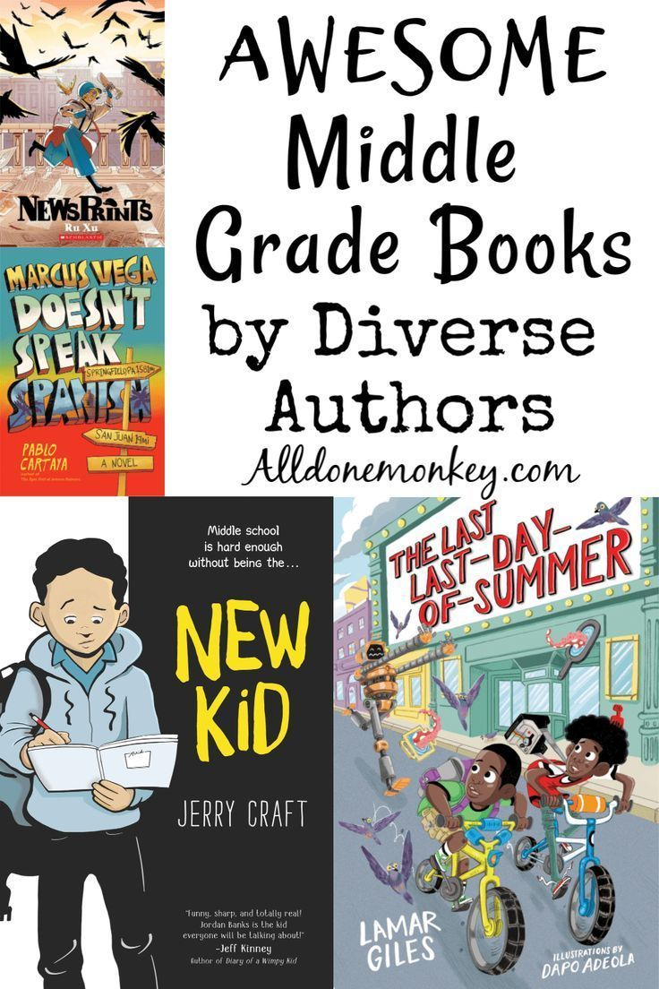 Your child will not want to put down these awesome middle grade books, all from diverse authors! Perfect for summer reading.  #summerreading #diversity