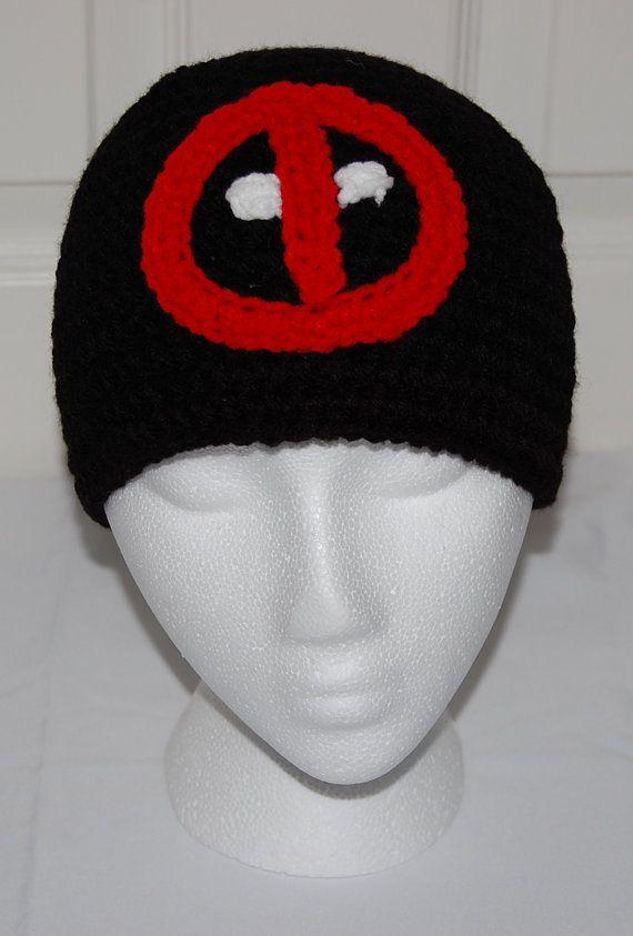 Black Deadpool Hat by efficientsense on Etsy, $20.00   Crochet ...