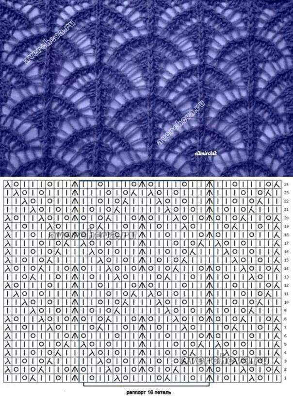 traforato | knitting chart | Pinterest | Dos agujas, Tejido y Puntadas