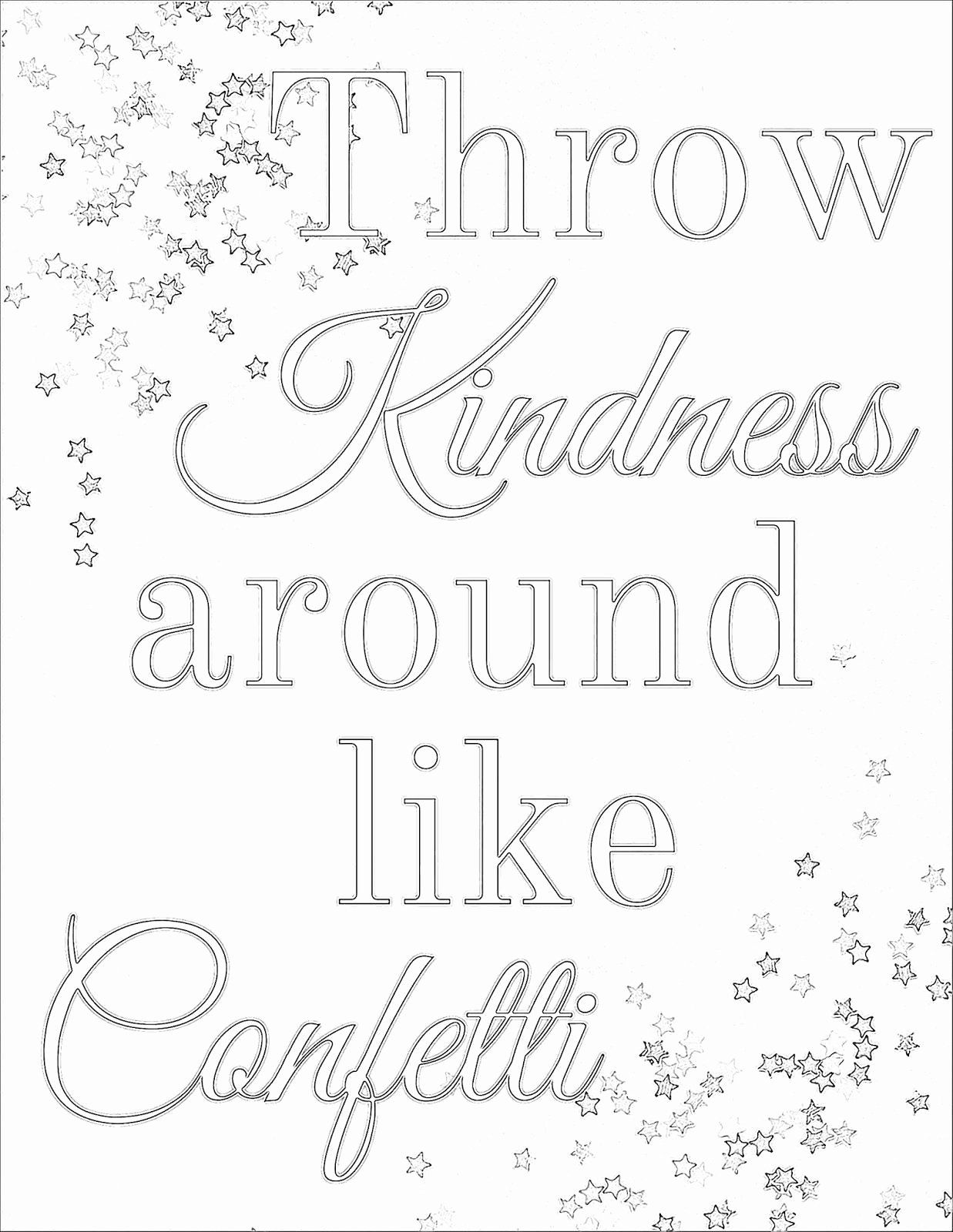 Printable Coloring Page For Adults Lovely Pleasurable Inspiration Kindness Coloring Pages Printable Quote Coloring Pages Coloring Pages Puppy Coloring Pages