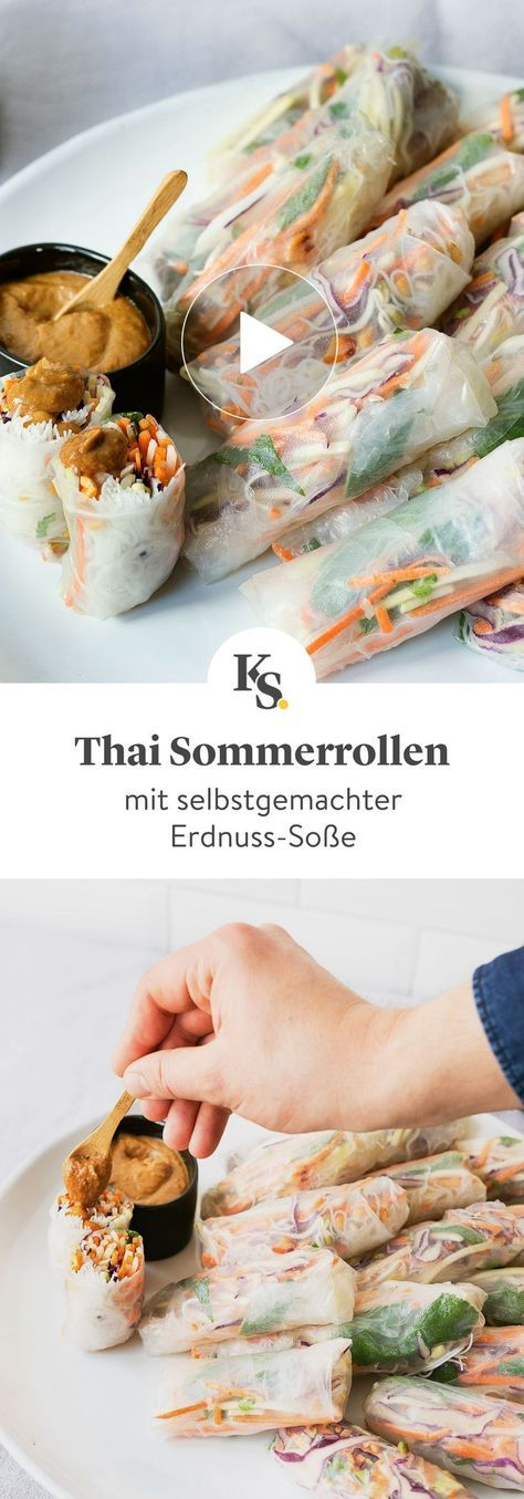 Photo of Thai summer rolls with peanut sauce Recipe with video | Kitchen stories