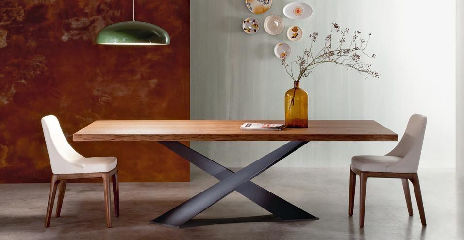 Riflessi Living è un tavolo in 5 misure (qui cm 200x100x77