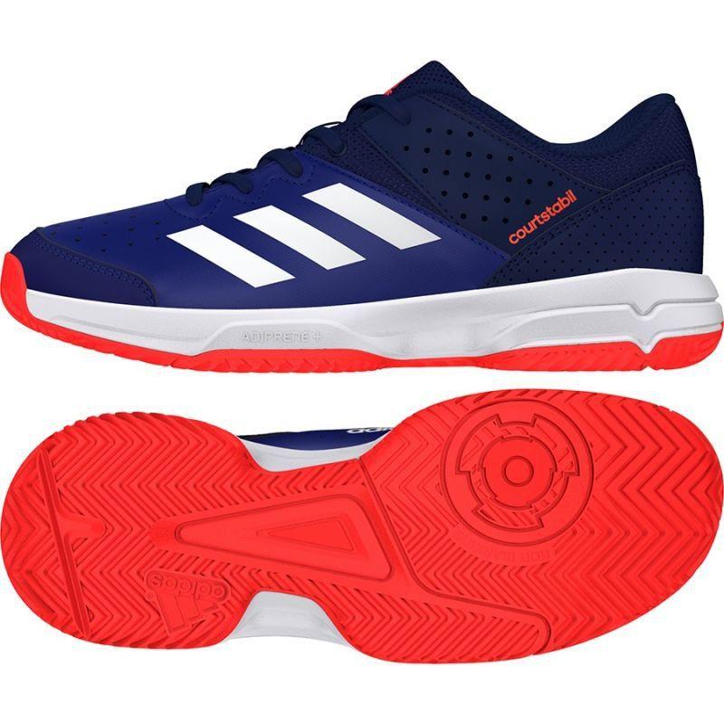 Buty do piłki ręcznej adidas Court Stabil niebieskie | Piłka