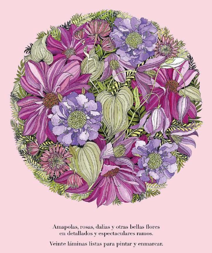Floribunda. Flores para pintar / mtm editores   Pintar, Libretas y ...