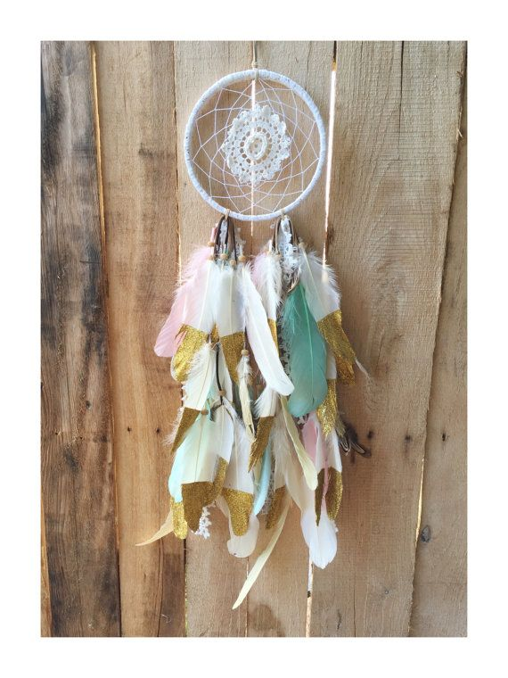 40 Custom Full Gold Dipped Feather Dreamcatcher For My Girls Unique Do Dream Catchers Get Full