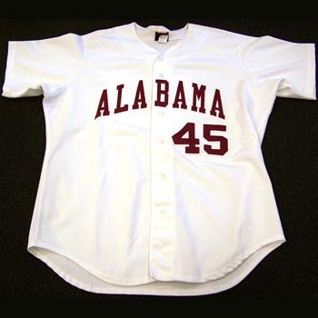 best sneakers 07387 54d2d Authentic Alabama Baseball White Jersey (#45) | Birthday ...