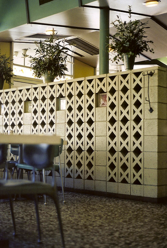 X Pattern In Concrete Block Partition Fencing Breeze