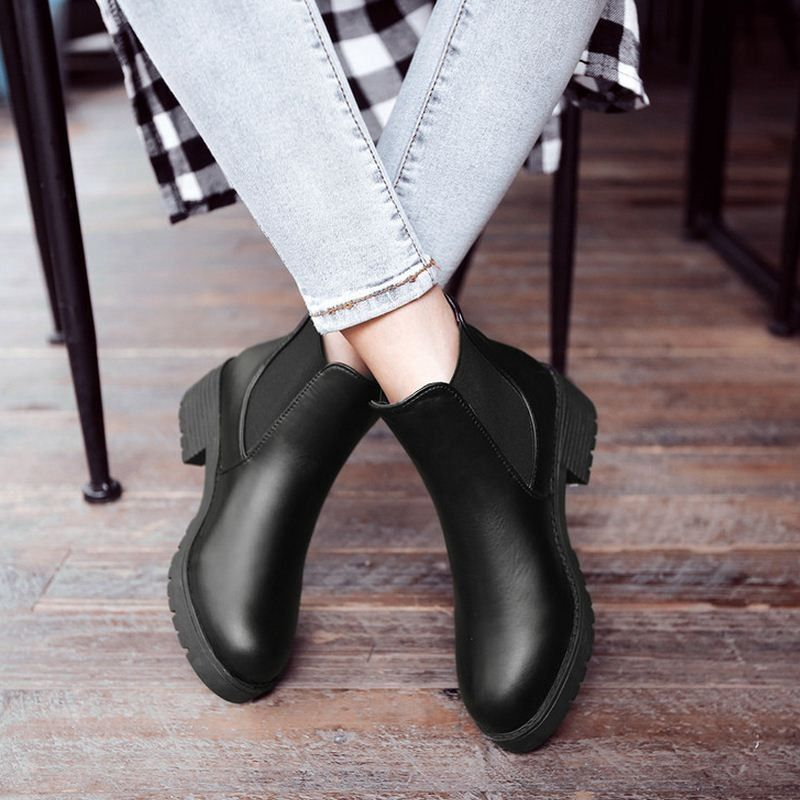2b0ebe3dcc7 US $17.88 -- Ladies Ankle Boots Women Square Zapatos Mujer Sexy ...
