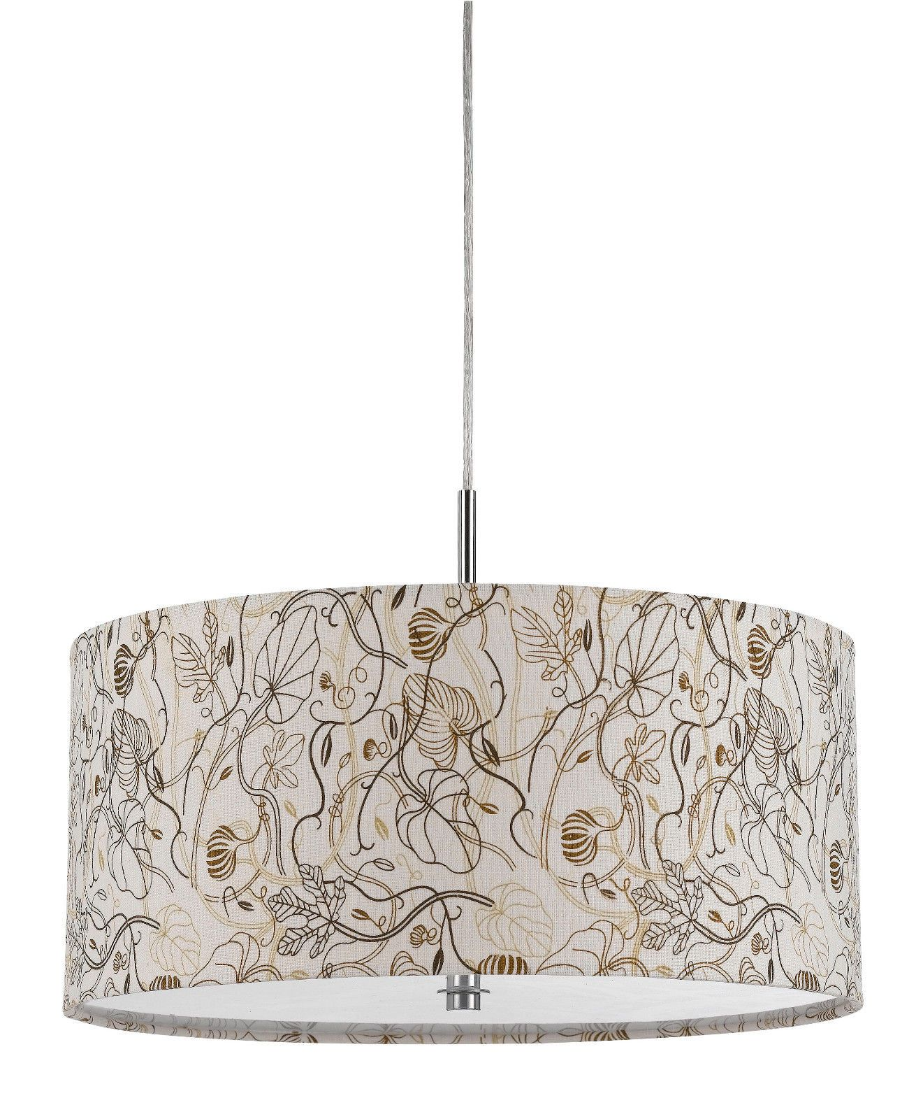 drum pendant lighting. Cal Lighting Nianda 2 Light Pendant With Custom Patterned Shade Floral Indoor Pendants Drum
