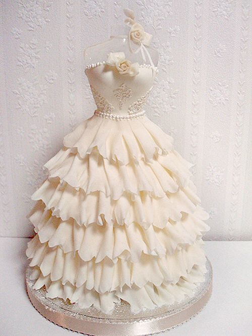 Wedding Shower Dress Cake | What a cute Gown Cake for a Cinderella ...