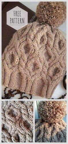 Knit Winter Cap Free Pattern