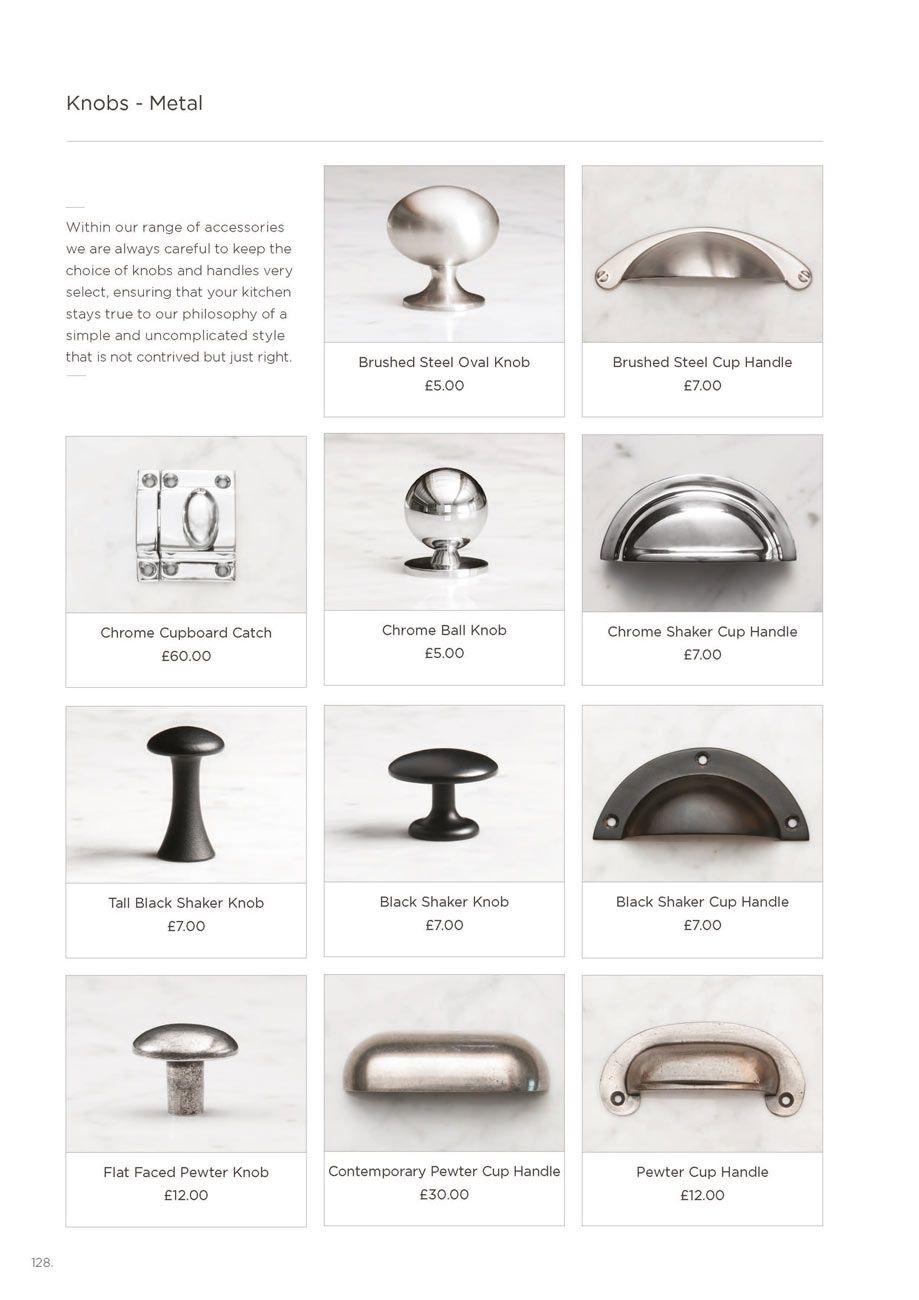 Shaker brochure devol kitchens and interiors hardware for Shaker style kitchen handles