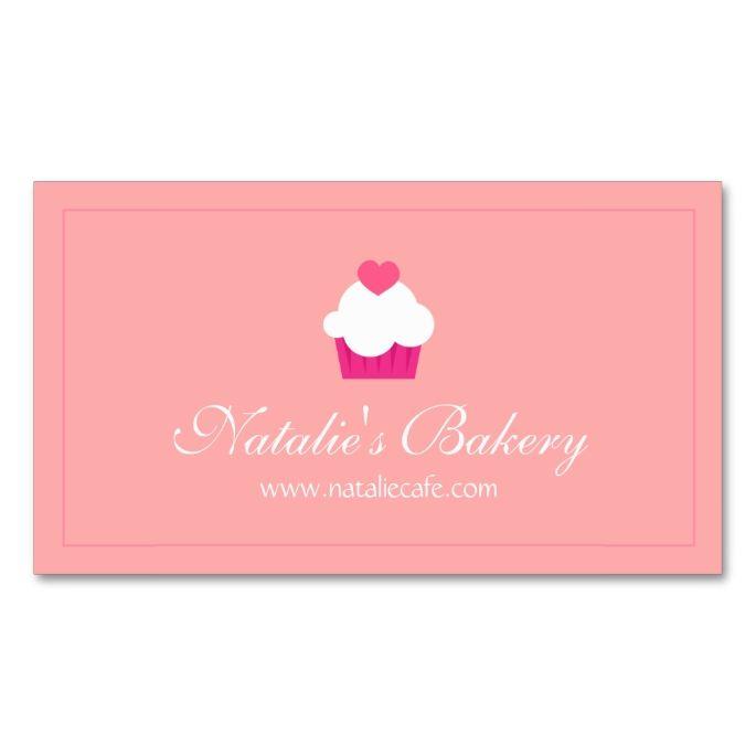 Elegant modern sweet cupcake bakery double sided standard elegant modern sweet cupcake bakery double sided standard business cards pack reheart Images