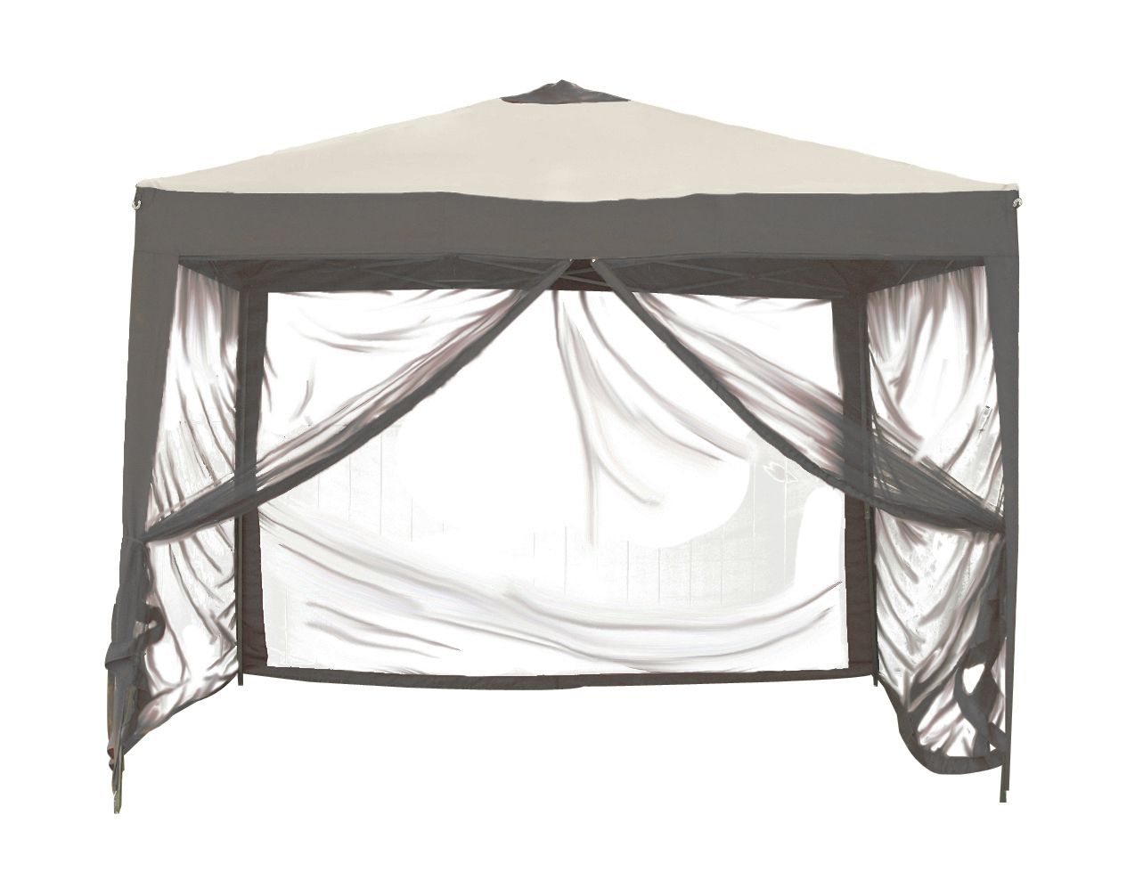 Stow Ez Beige Charcoal Gray Portable 10 X10 Pop Up Canopy Gazebo Netting Bag Gazebo Patio Gazebo Hammock With Canopy