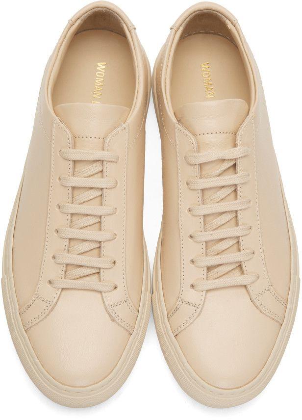 f05c97c3dc138 Woman by Common Projects - Beige Original Achilles Low Sneakers ...
