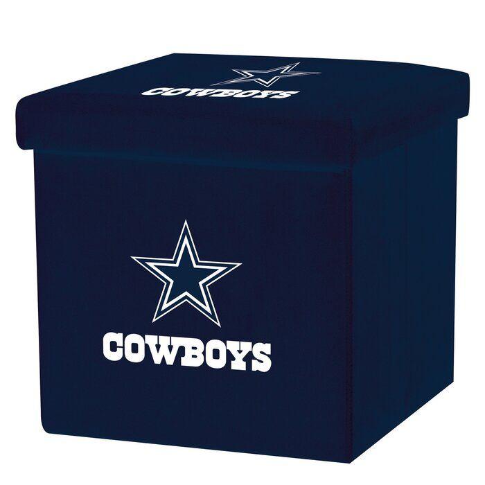 NFL Storage Ottoman Mesh Bin