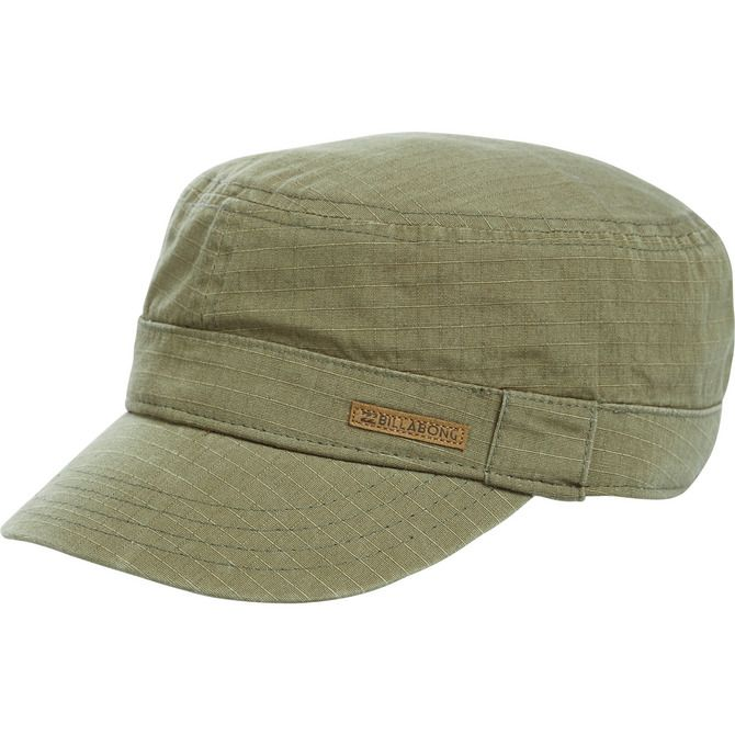 0b51c4ff228 Get a dose of surplus style with the Corporal hat. This military cap  features utilitarian design and a leather patch at front.