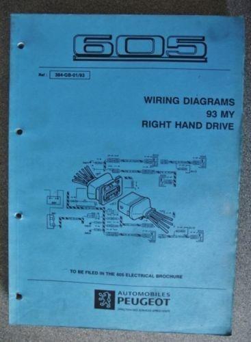 Peugeot 605 Wiring Diagram Manual 1993 384 93