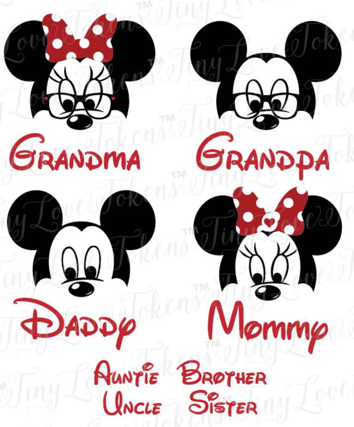 Disney Family Iron On Decals Https Www Etsy Com Listing