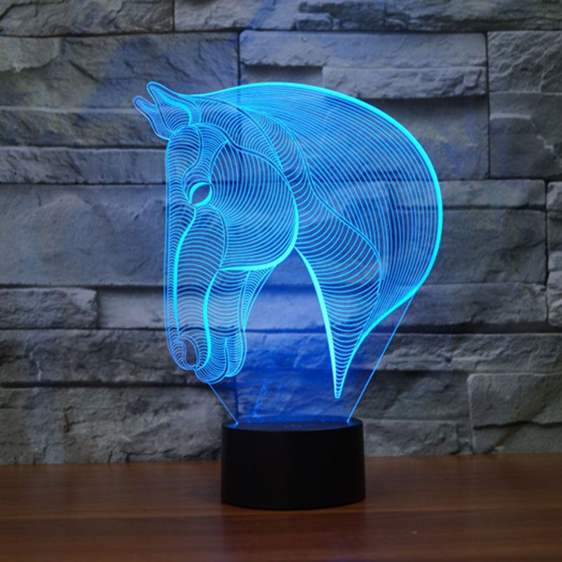 Find More Night Lights Information About Novelty Horse 3d Night Light For Kids Horse Lamp 3d Night Light 3d Illusion Lamp