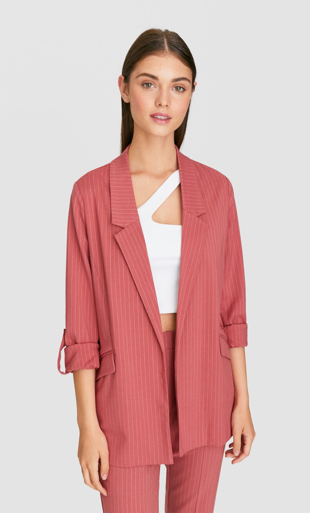 Striped Flowing Blazer Women S Blazers Stradivarius Greek Blazers For Women Blazer Womens Blazers