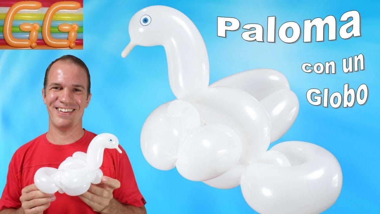 como hacer una paloma con globos largos globoflexia facil